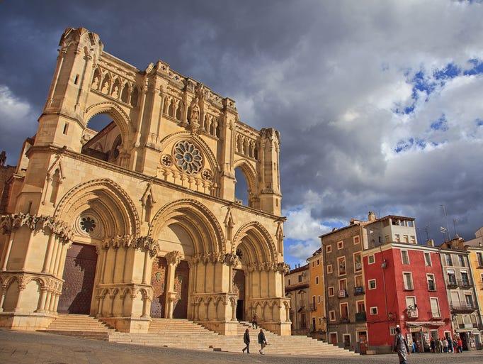 Nuestra Señora de Gracia in Cuenca, Spain, has a                                                          Gothic interi