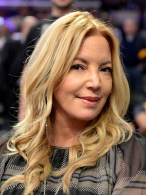 Los Angeles Lakers president Jeanie Buss in attendance prior to the game against the Houston Rockets at Staples Center.