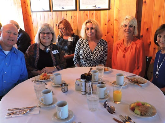 Mike Readling of Habitat for Humanity of MC, Jennifer Esler of Elliott Museum, Glenna Parris of Helping People Succeed and Terri Perry and Mitchell Dobrow of Refuge Ranch