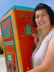 Taking several weeks to build, Margo Bencomo had help