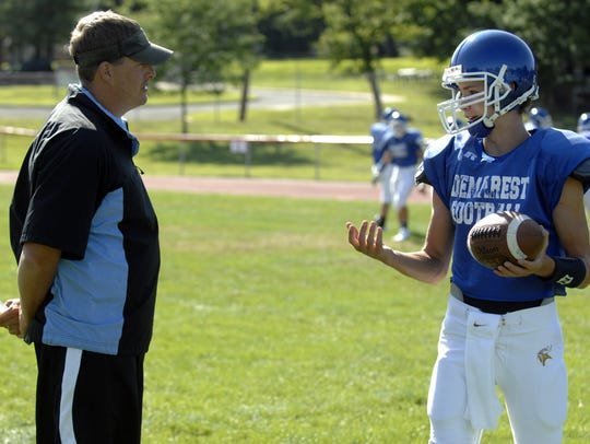 Demarest coach Tony Mottola during a 2009 practice.