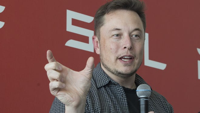 Tesla Motors Inc., CEO Elon Musk discusses the company's new Gigafactory Tuesday, July 26, 2016, in Sparks, Nev. It's Tesla Motors biggest bet yet: a massive, $5 billion factory in the Nevada desert that could almost double the world's production of lithium-ion batteries by 2018.