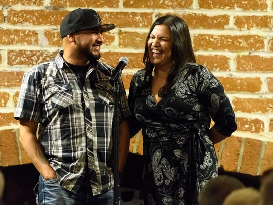 Adam and Raquel Gonzales at the Arizona Storytellers: