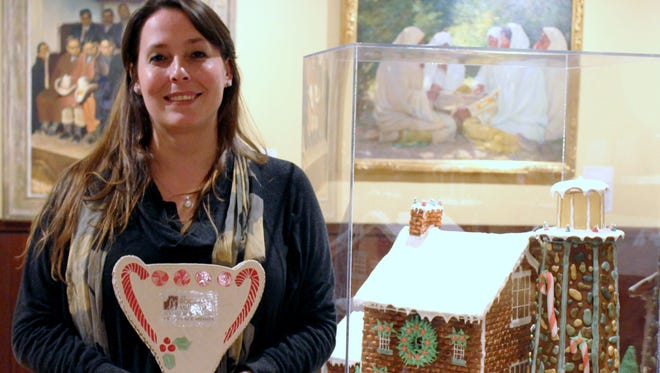 Amber Colby of 'Cuse Cakes near Syracuse captured first place in the Rockwell Museum's inaugural Gingerbread Invitational.
