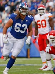 Former NY Giants undrafted rookie Chad Wheeler is expected to start at right tackle Sunday against the Houston Texans, replacing former first-round pick Ereck Flowers, who has struggled through the first two games.