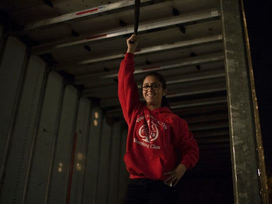 Vineland High School's Stacy Perez, 16, volunteers
