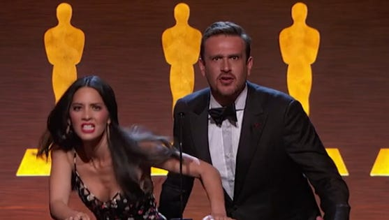 Olivia Munn and Jason Segel rocked the Science and Technology Academy Awards.