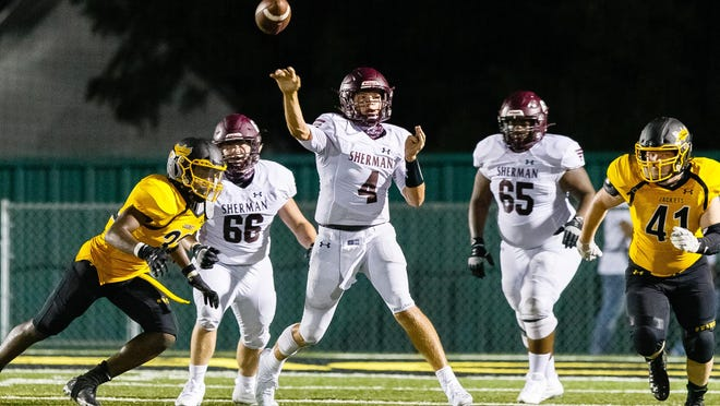 Sherman's Tate Bethel and the Bearcats look to bounce back from a season-opening loss in the Battle of the Ax when they host Mount Pleasant on Friday night.