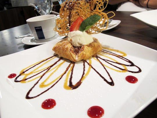 Crostata Di Mele dessert at the new Divieto Ristorante in Coconut Point, Estero.