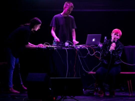 Jenny Hval performs at the Bijou Theatre as part of
