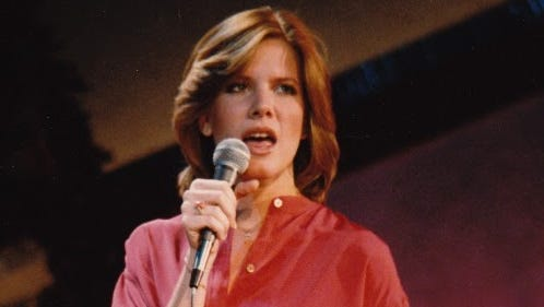 """Debby Boone performs on """"The Midnight Special"""" in 1977."""