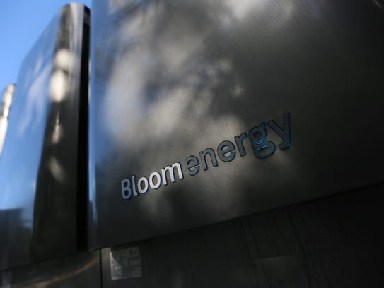 Bloom Energy Fuel cell boxes on JP Morgan's campus