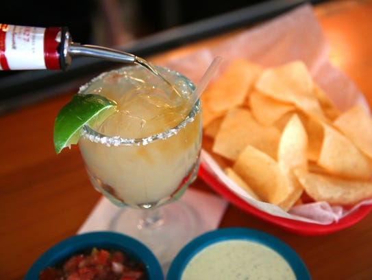 Add a floater to any of your favorite Chuy's margaritas.