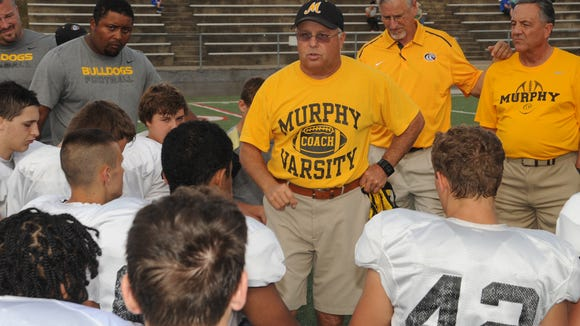 Murphy's David Gentry is the North Carolina head coach for this year's Shrine Bowl.