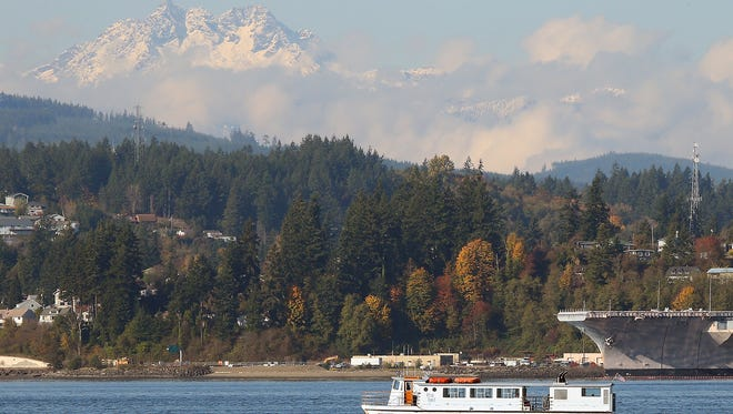 FILE — The Admiral Pete heads for the Port Orchard dock in November 2017.
