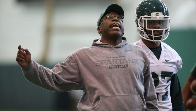 Michigan State University secondary coach Harlon Barnett.