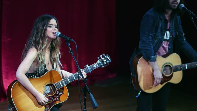 Maren Morris performs at CMT's Next Women of Country luncheon at City Winery on Tuesday Nov. 3, 2015.