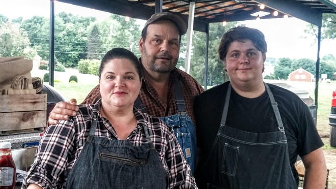 Robert and Colleen Whitson and their son Zachary of Mapleton Farms.