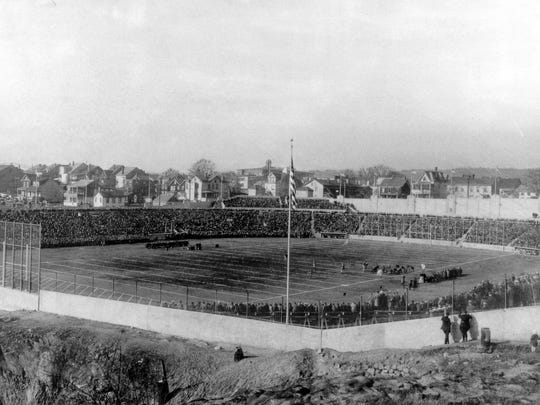 Hinchliffe Stadium in the early days after it opened