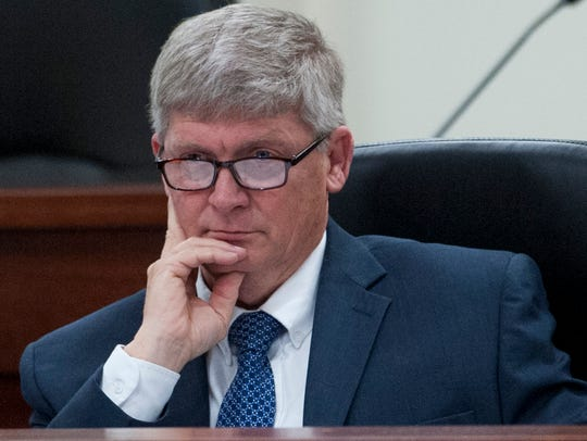 Sen. Greg Albritton, R-Range, seen here in 2017, first sponsored the bill to end marriage licenses in 2015.