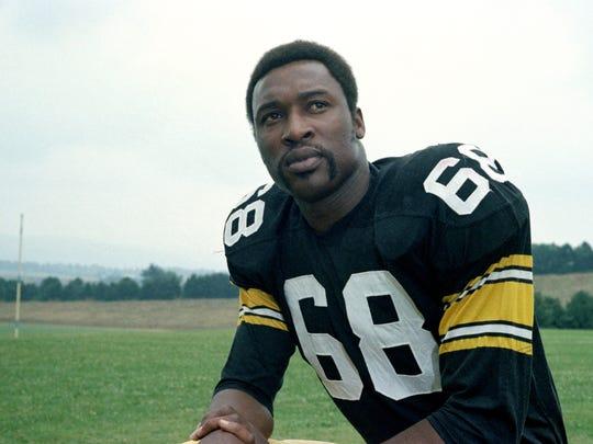 Pittsburgh Steelers' defensive end L.C. Greenwood is seen in 1973.