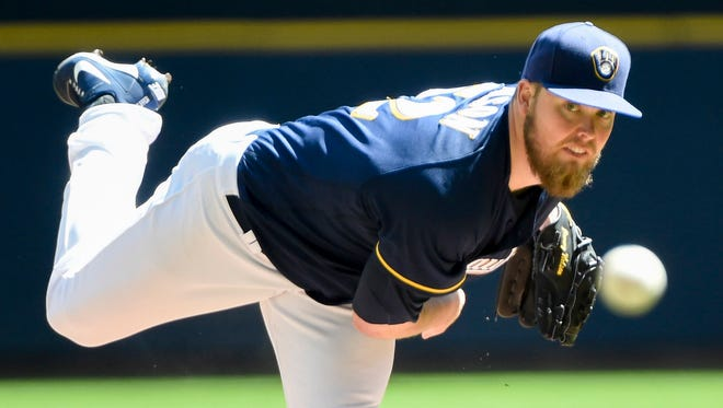 Brewers starter Jimmy Nelson's night was cut short Friday due to rain in Pittsburgh.