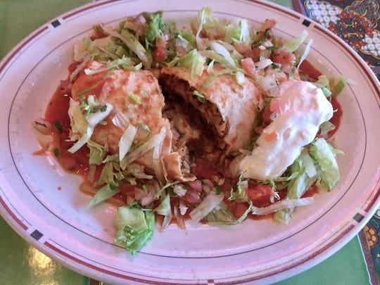A ranchero burrito at Casa Grande 2 in Caughlin Ranch is stuffed with a mild chile colorado.