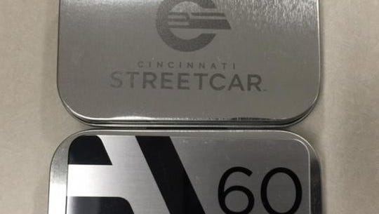 A look at the streetcar's new logo and commemorative Founders' Club fare card.