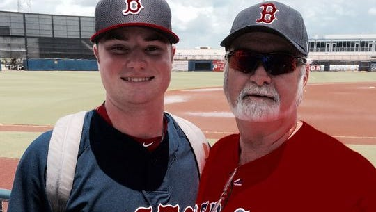 Logan Allen and his father, Norman.