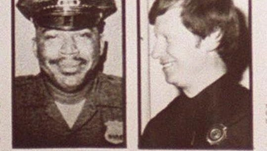 """Nyack Police Officer Waverly """"Chipper"""" Brown (l) and Sgt. Edward O'Grady were murdered Oct. 20, 1981, at a Nyack roadblock during robbery of a Brinks truck"""