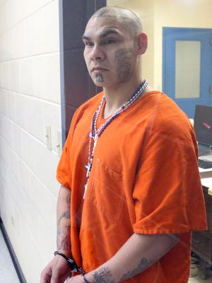 Joseph Tejeda, accused in Breanna Wood's killing, appeared before a magistrate judge on Tuesday, Jan. 10, 2017, at the Nueces County Jail in Corpus Christi.