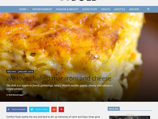 Among the many topics covered in 50Bold are fun food