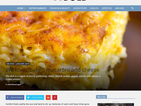 Among the many topics covered in 50Bold are fun food features, such as a recent article on best-ever mac and cheese