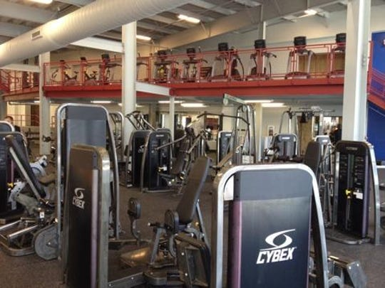 A ground-level view of the diverse fitness offerings in the expanded Clarksville Athletic Club.