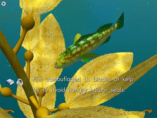 "A kelp forest comes alive in ""Ocean Forests,"" an app in which kids can read a nonfiction book and then play in a virtual kelp forest along with its inhabitants."