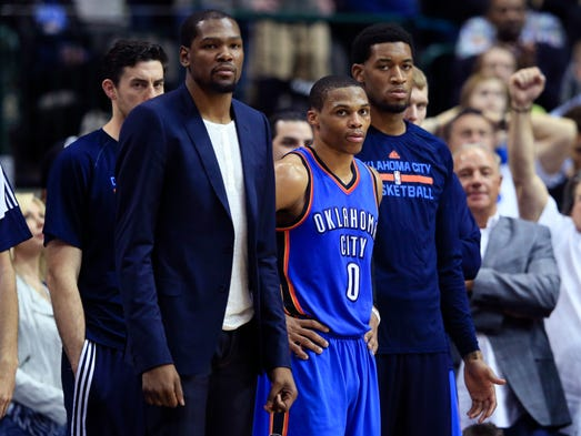 Thunder forward Kevin Durant is out indefinitely with