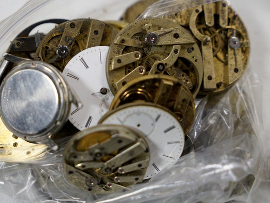 Watch components wait to be utilized by veterans in
