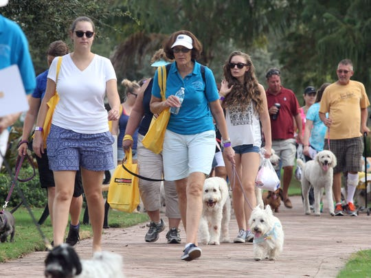 The Mutt March, sponsored by the Humane Society of the Treasure Coast, will be Saturday at Memorial Park in downtown Stuart.