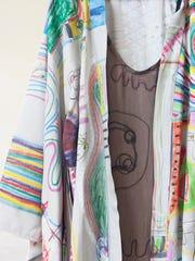 Dress and kimono design by Amanda Valentine. Textile