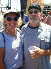 Debbie and David Jacobs at the French Quarter Festival in New Orleans.