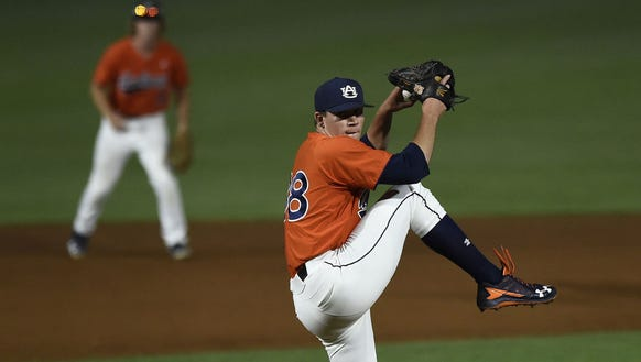 Auburn pitcher Elliott Anderson has quickly become