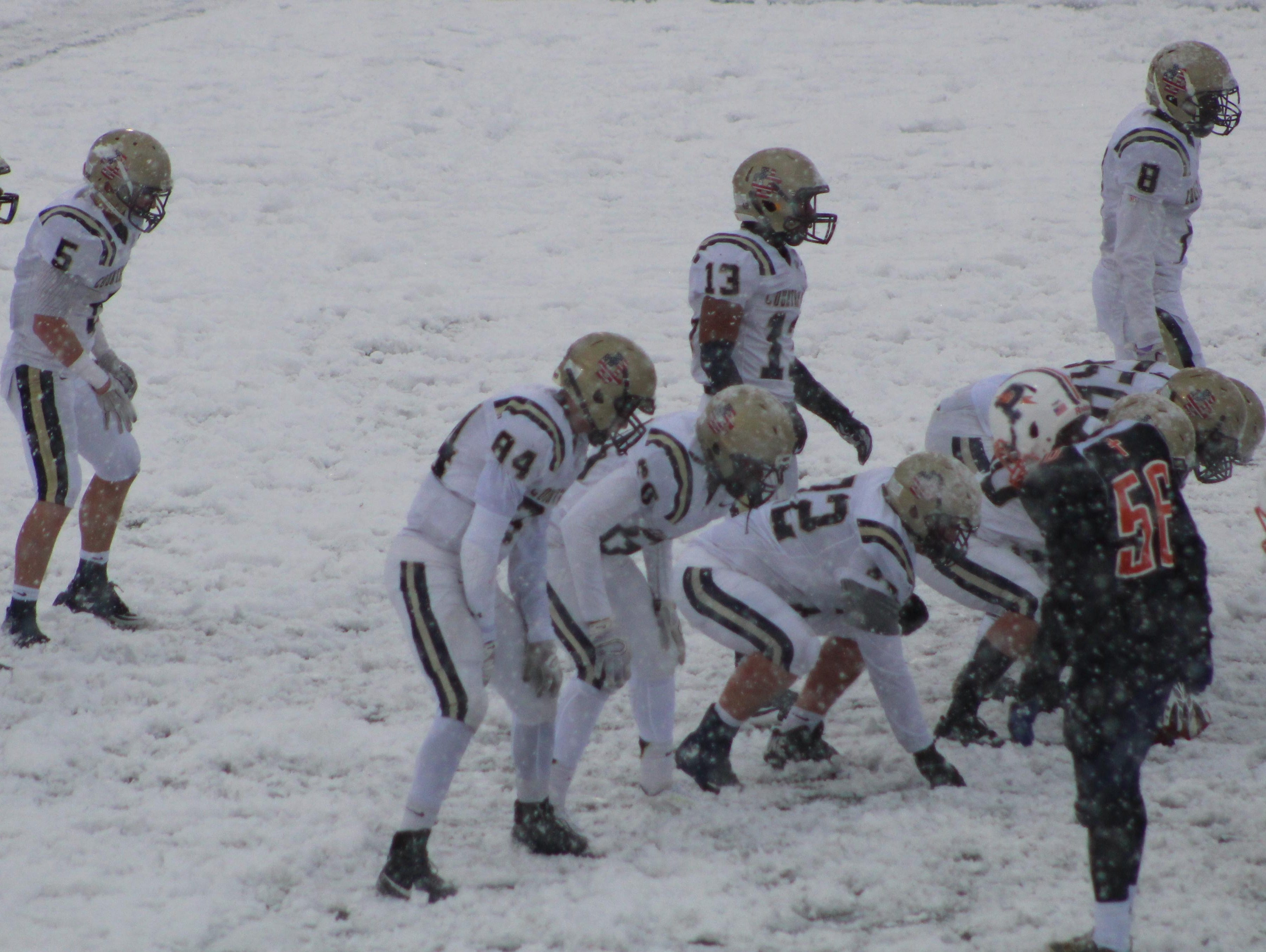 Detroit Country Day's season came to an end on a snow-covered field at West Bloomfield in the Division 4 state semifinal game against Flint Powers Catholic.
