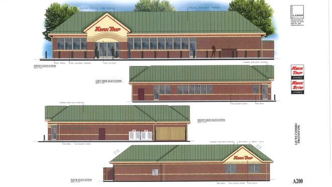 This is an artist's rendition of a proposed Kwik Trip store on Webster Avenue in Allouez. The village board did not approve the project.