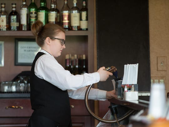 Colleen O'Reilly, 25, of Rochester works as a server at Penfield Golf Club.