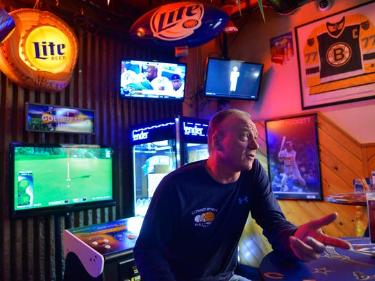 Tom Frericks, owner of the Ultimate Sports Bar & Grill, Waite Park, is shown in a file photo from 2015.