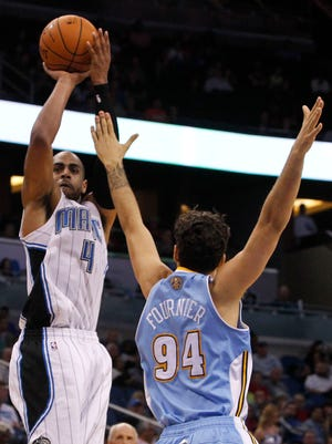 Arron Afflalo, left, and Evan Fournier were traded for each other.