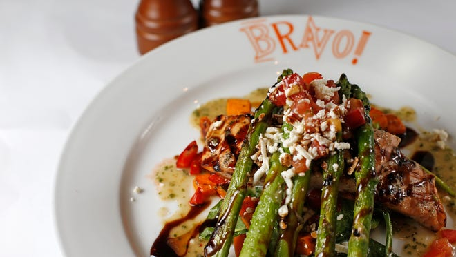 Grilled salmon at Bravo! in Rookwood Center in Norwood.