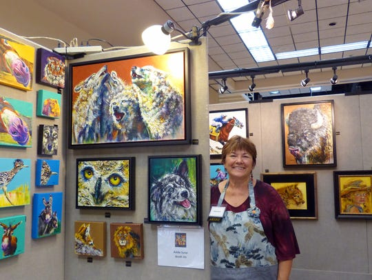 Addie Synar's colorful animal art was a big attraction