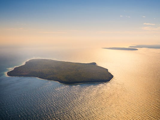 Aerial view of the St. Martin Island. The biologically diverse St. Martin Island is located off the Garden Peninsula in Delta County in the U.S. state of Michigan. It is the southernmost island in Michigan that is part of a line of islands at the mouth o