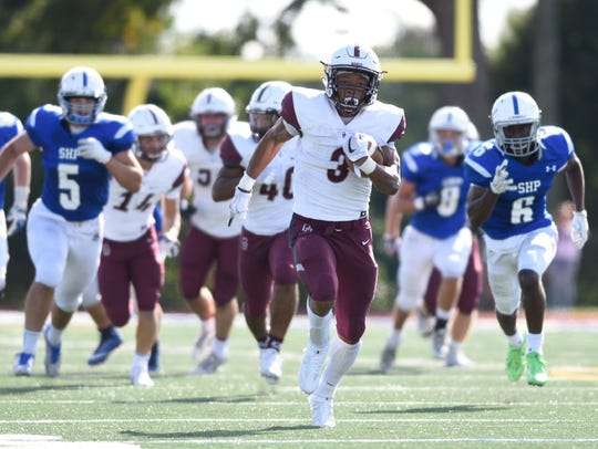 Don Bosco RB Jalen Berger ran for 114 yards and racked
